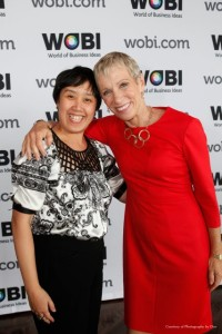 Barbara Corcoran and Caroline Ceniza-Levine at the 2012 World of Business Ideas Conference
