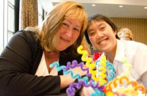 business partners Connie Thanasoulis-Cerrachio and Caroline Ceniza-Levine