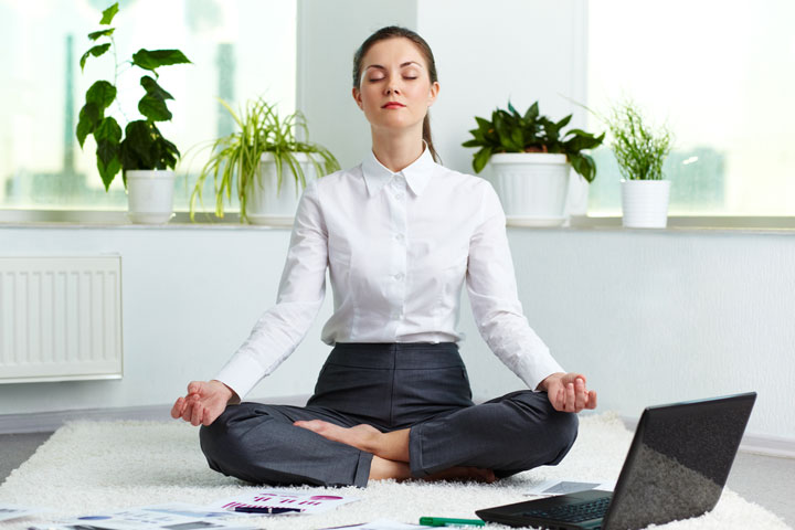 Taking a meditation break is one way to boost your productivity